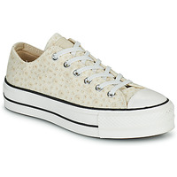 Shoes Women Low top trainers Converse CHUCK TAYLOR ALL STAR LIFT CANVAS BRODERIE OX White
