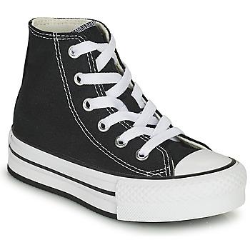 Shoes Girl High top trainers Converse CHUCK TAYLOR ALL STAR EVA LIFT CANVAS COLOR HI Black