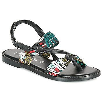 Shoes Women Sandals Kaporal EVALOU Black / Multicolour