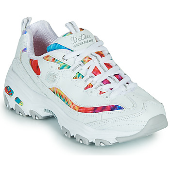 Shoes Women Low top trainers Skechers D'LITES SUMMER FIESTA White / Multicolour