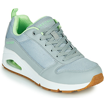 Shoes Women Low top trainers Skechers UNO INSIDE MATTERS Grey / Green
