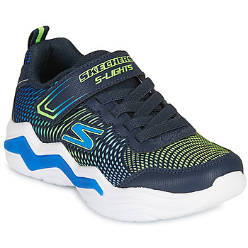 Shoes Boy Low top trainers Skechers ERUPTERS IV Marine / Green