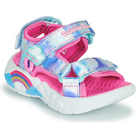 Shoes Girl Sports sandals Skechers RAINBOW RACER Pink / Silver