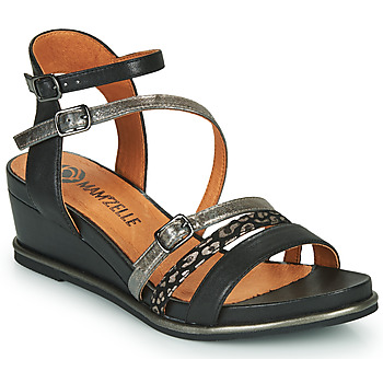 Shoes Women Sandals Mam'Zelle NAGA Black / Silver