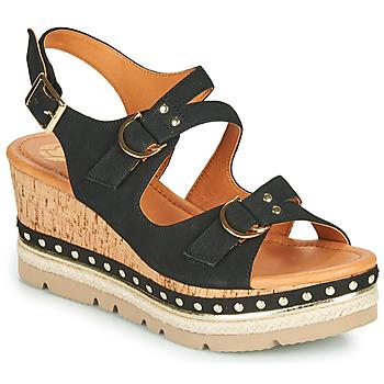 Shoes Women Sandals Mam'Zelle PAPOTE Black