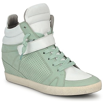 Shoes Women High top trainers Kennel + Schmenger SOHO BRIGHT Green / White