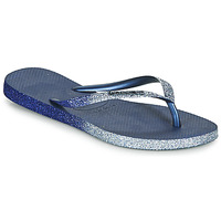Shoes Women Flip flops Havaianas SLIM SPARKLE II Marine