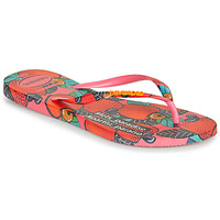 Shoes Women Flip flops Havaianas SLIM SUMMER Pink / Red