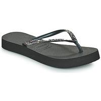 Shoes Women Flip flops Havaianas SLIM FLATFORM GLITTER Black