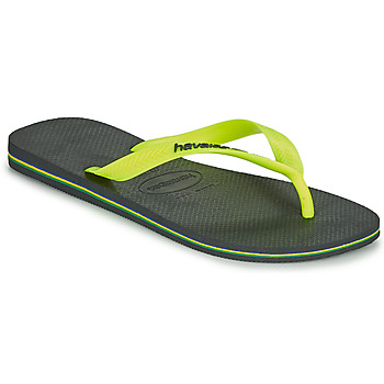 Shoes Men Flip flops Havaianas BRASIL LOGO Grey