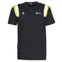 material Men short-sleeved t-shirts Le Coq Sportif RENAULT FANWEAR 20 Tee SS M Black