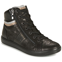 Shoes Women High top trainers TBS TAMAREA Black / Silver / Bronze
