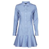 material Women Short Dresses Lauren Ralph Lauren TRIELLA Blue / White