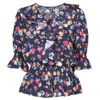 material Women Shirts Lauren Ralph Lauren HELZIRA Blue / Multicolour