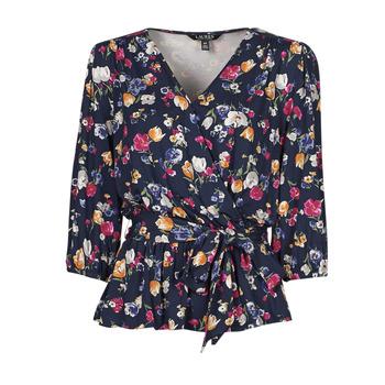 material Women short-sleeved t-shirts Lauren Ralph Lauren SHIANETA Multicolour