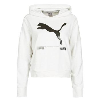material Women sweaters Puma NUTILITY HOODY White