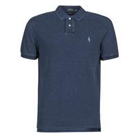material Men short-sleeved polo shirts Polo Ralph Lauren POLO AJUSTE DROIT EN COTON BASIC Blue