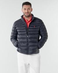 material Men Duffel coats Polo Ralph Lauren BLOUSON DOUDOUNE EARTH POLO EN NYLON RECYCLE ET PRIMALOFT LOGO P Marine