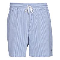 material Men Trunks / Swim shorts Polo Ralph Lauren MAILLOT SHORT DE BAIN RAYE SEERSUCKER CORDON DE SERRAGE ET POCHE Blue