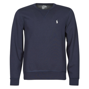 material Men sweaters Polo Ralph Lauren SWEATSHIRT COL ROND EN JOGGING DOUBLE KNIT TECH LOGO PONY PLAYER Blue / Marine