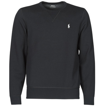 material Men sweaters Polo Ralph Lauren SWEATSHIRT COL ROND EN JOGGING DOUBLE KNIT TECH LOGO PONY PLAYER Black