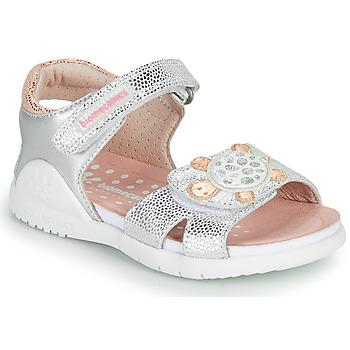 Shoes Girl Sandals Biomecanics 212172 Silver