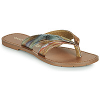 Shoes Women Flip flops Chattawak KALINDA Gold / Multicolour