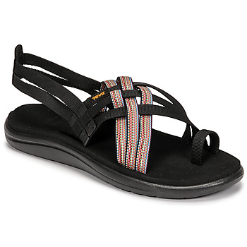 Shoes Women Sandals Teva VOYA STRAPPY Black / Multicolour