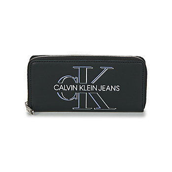 Bags Women Wallets Calvin Klein Jeans ZIP AROUND GLOW Black