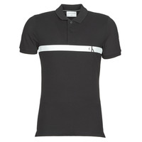 material Men short-sleeved polo shirts Calvin Klein Jeans HORIZONTAL CK PANEL POLO Black