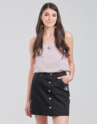 material Women Blouses Calvin Klein Jeans MONOGRAM CAMI TOP Pink