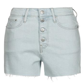 material Women Shorts / Bermudas Calvin Klein Jeans HIGH RISE SHORT Blue / Clear