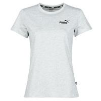 material Women short-sleeved t-shirts Puma ESS LOGO TEE Grey / Mottled