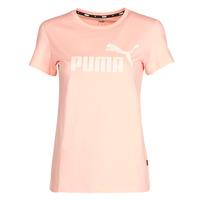 material Women short-sleeved t-shirts Puma ESS Logo Tee (s) Apricot