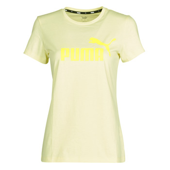 material Women short-sleeved t-shirts Puma ESS Logo Tee (s) Yellow