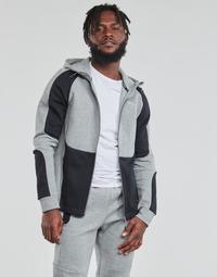 material Men sweaters Puma EVOSTRIPE FZ HOODY Grey / Black