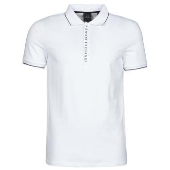 material Men short-sleeved polo shirts Armani Exchange 8NZF71-ZJH2Z White