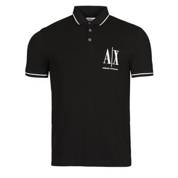 material Men short-sleeved polo shirts Armani Exchange 8NZFPA-Z8M5Z Black