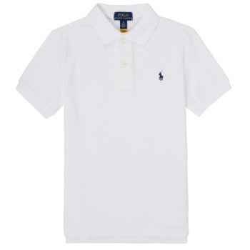 material Boy short-sleeved polo shirts Polo Ralph Lauren FRANCHI Blue
