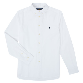 material Boy long-sleeved shirts Polo Ralph Lauren TOUNIA White