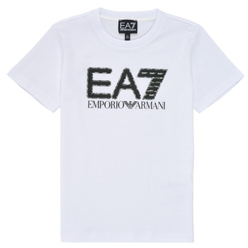 material Boy short-sleeved t-shirts Emporio Armani EA7 3KBT53-BJ02Z-1100 White