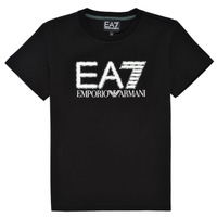 material Boy short-sleeved t-shirts Emporio Armani EA7 3KBT53-BJ02Z-1200 Black