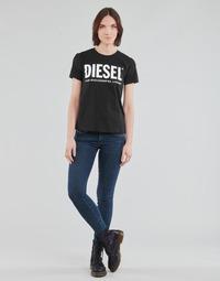 material Women Skinny jeans Diesel SLANDY-LOW Blue / Medium