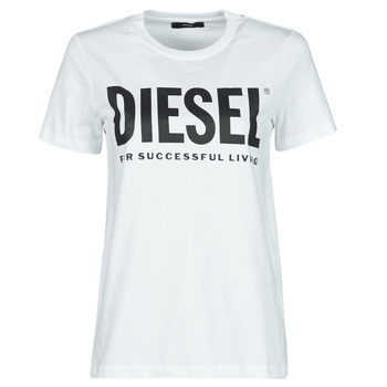 material Women short-sleeved t-shirts Diesel 00SYW8-0CATJ-100 White