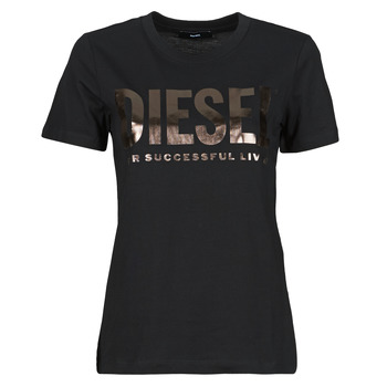 material Women short-sleeved t-shirts Diesel 00SYW8-0CATJ-9XXB Black