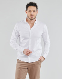 material Men long-sleeved shirts Emporio Armani YOULLINE SLIM White