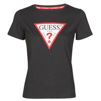 material Women short-sleeved t-shirts Guess SS CN ORIGINAL TEE Black