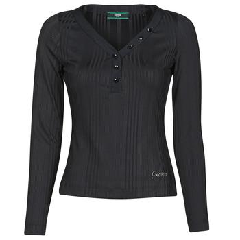material Women Long sleeved shirts Guess LS URSULA TOP Black
