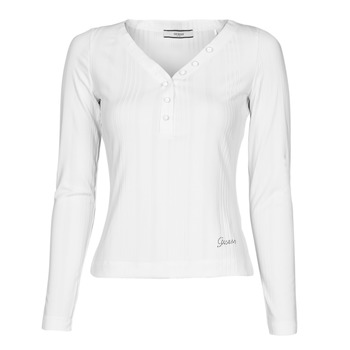 material Women Long sleeved shirts Guess LS URSULA TOP White