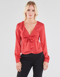 material Women Blouses Guess NEW LS GWEN TOP Red / White